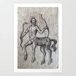 The Centaur of the Folóï Oak Forest Art Print