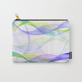 Background with colorful lines Carry-All Pouch