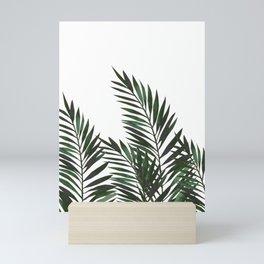 Palm Leaves Green Mini Art Print