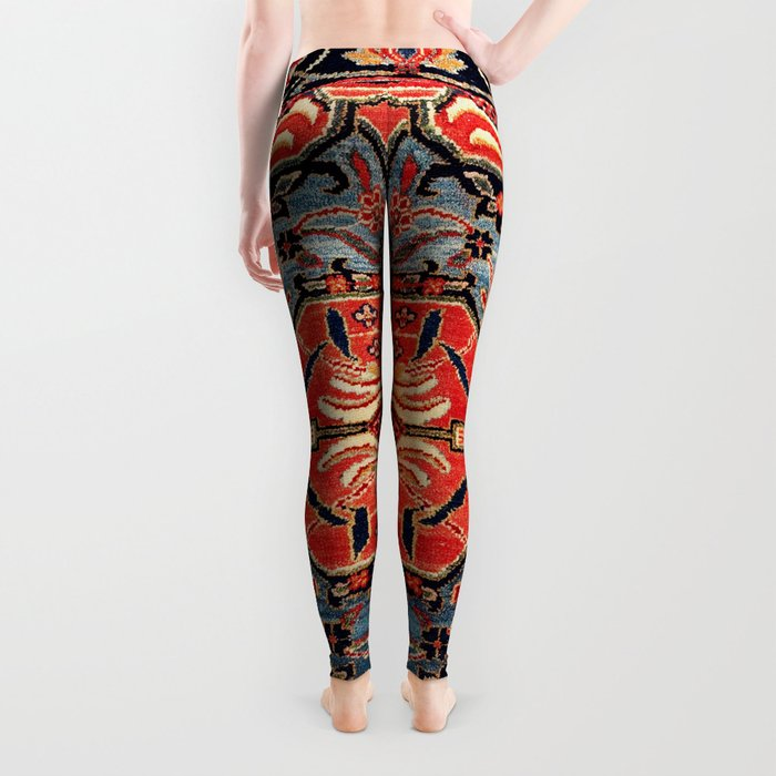 Kashan Poshti Central Persian Rug Print Leggings