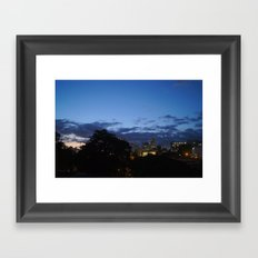 THE NIGHT IS COMING. Framed Art Print