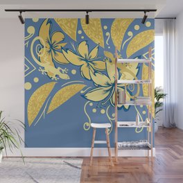 Samoan Orchid Sunset Polynesian Floral Wall Mural