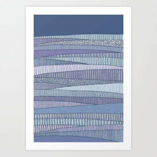Winter Fields Art Print