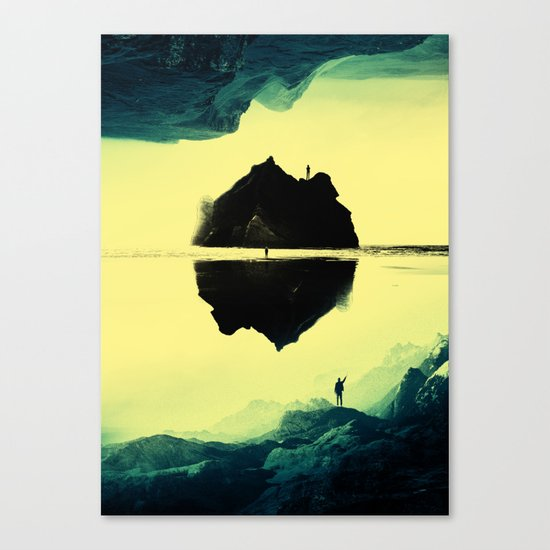 Triple Isolation in Green Canvas Print