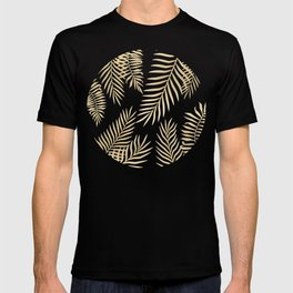 Gold palm leaves T-shirt