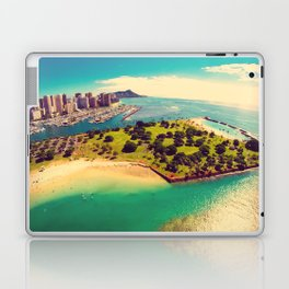 Ala Moana Beach Park, Magic Island, and Diamond Head  Laptop & iPad Skin