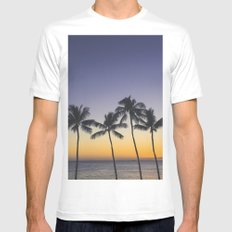 Tropical Sunset Mens Fitted Tee White MEDIUM