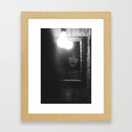 deeply emotional woman Framed Art Print