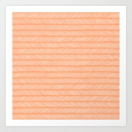 Cantaloupe Small Herringbone Art Print
