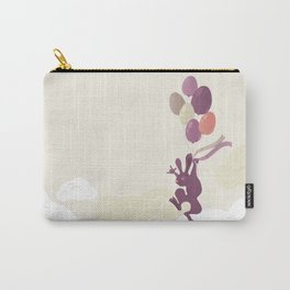 Flying Birthday Bunny (Purple) Carry-All Pouch