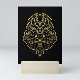Leo Gold Mini Art Print
