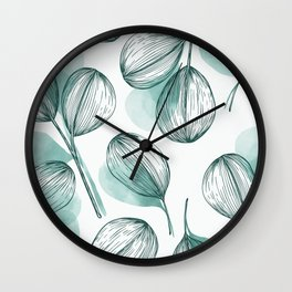 Round Leaves 2 Wall Clock