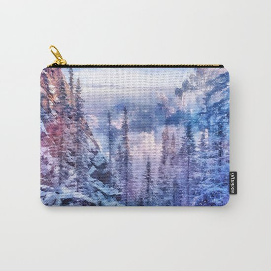 Winter forest in the mountains II Carry-All Pouch