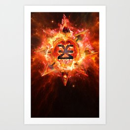 Chaos Icon - Khorne Art Print