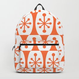 Mid Century Modern Atomic Fusion Pattern Orange Backpack