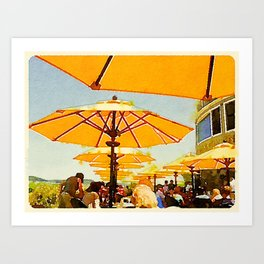 Bar Harbor Inn, Maine Art Print