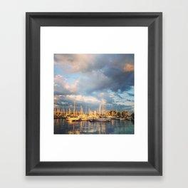 Montrose Harbour Framed Art Print