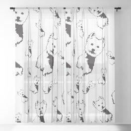 WEST HIGHLAND TERRIER Sheer Curtain