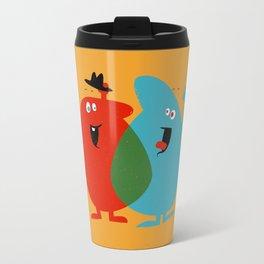 Hello Old Chum | Illustration of Friendship Travel Mug