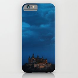 Magical Castle under a moody cloudy sky – Landscape Photography iPhone Case