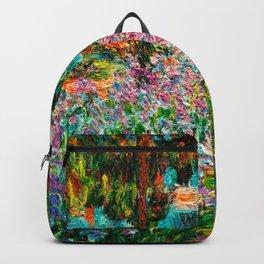 Claude Monet - Irises in Monet's Garden Backpack