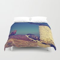 jeep Duvet Covers featuring windmill and the jeep in yalıkavak by gzm_guvenc