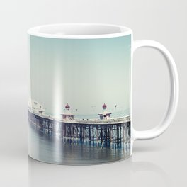 Blackpool pier and coast on a sunny July morning. Coffee Mug