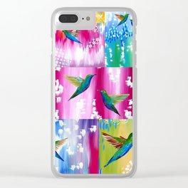 Hummingbird Cushion Clear iPhone Case