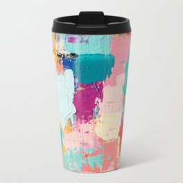 CABBAGE HANDS // ABSTRACT MIXED MEDIA ON CANVAS Travel Mug
