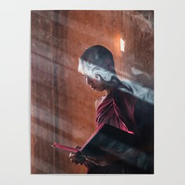 Young Monk in Bagan Poster