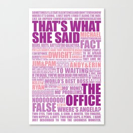 The Office (Purple and Pink) Canvas Print