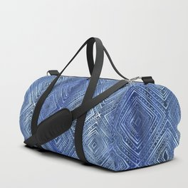 Drawn Diamond Denim Duffle Bag