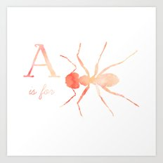 A is for Ant; Art Print