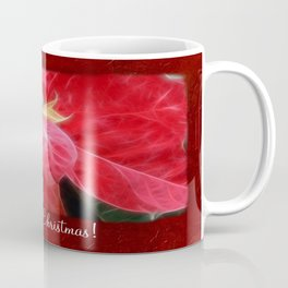 Mottled Red Poinsettia 2 Merry Christmas P5F1 Coffee Mug