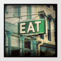 eat Canvas Prints featuring EAT by jbirdistheword