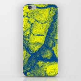 Abstract - in yellow & green iPhone Skin
