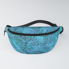 Light Blue Knitwear Background Pattern Fanny Pack