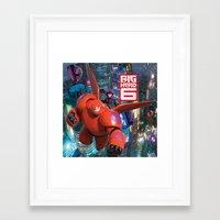 big hero 6 Framed Art Prints featuring Big Hero 6  by store2u