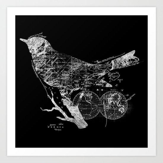 Bird Wanderlust Art Print