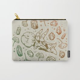 Triceratops Rocks!   Leaf Green & Pumpkin Spice Ombré Carry-All Pouch