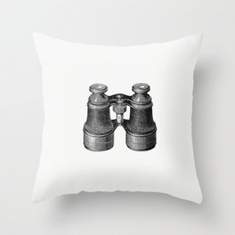 Binocular from Our Silver Streak or the Yachtsmans Guide From Harwich to Scilly Throw Pillow