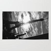 eiffel Area & Throw Rugs featuring Eiffel by Nat Alonso