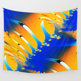 Lava Meets the Sea Fractal Wall Tapestry