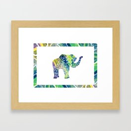Patchwork Elephant Framed Art Print