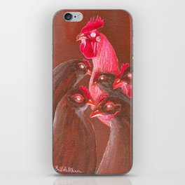 Henpecked In Red iPhone Skin