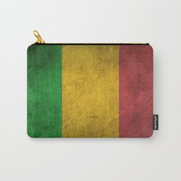 Old and Worn Distressed Vintage Flag of Mali Carry-All Pouch