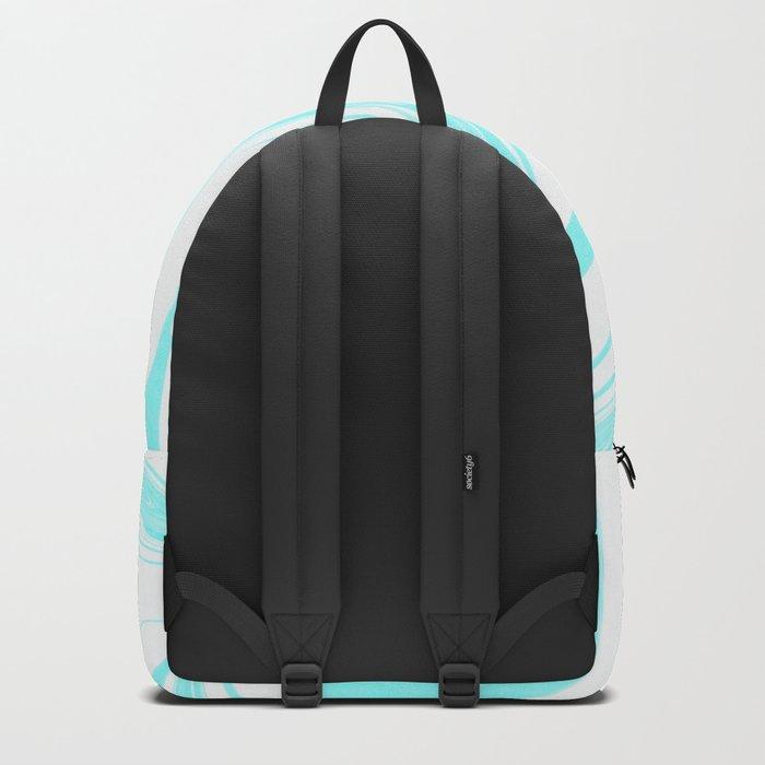 Blue Ink Swirl Marble Backpack