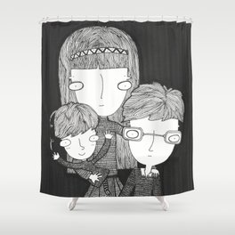 The Baudelaire orphans Shower Curtain