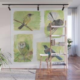 New Zealand Forest Birds Wall Mural