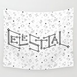 Reversed Zodiac Constellation Wall Tapestry